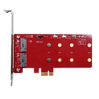 PCIe to dual M.2 RAID module WT (ESPS-32R1-W1)