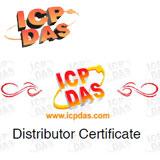 Сертификат официального дистрибьютора ICP DAS