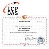 Сертификат 2021 официального дистрибьютора ICP DAS